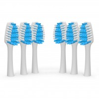 Sonic Wave Battery Toothbrush Portable, 2 Toothbrushes with 4 EXTRA Brush Heads.