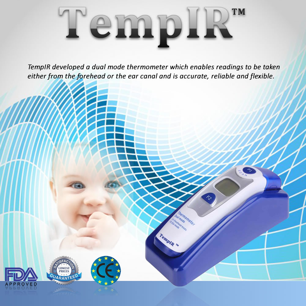 Best Baby Thermometer | Dual Mode Non Contact and Ear Thermometer ...