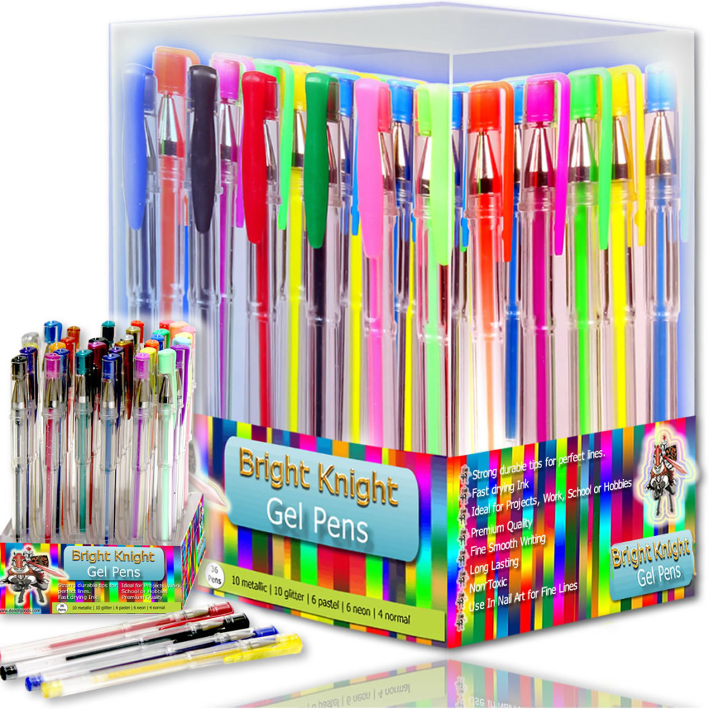 bright knight gel pens tempir